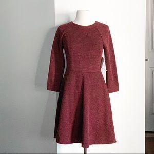 NWT MODCLOTH Maroon Sweater Dress